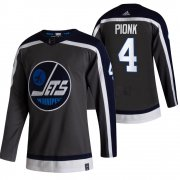 Wholesale Cheap Winnipeg Jets #4 Neal Pionk Black Men's Adidas 2020-21 Reverse Retro Alternate NHL Jersey