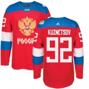 Wholesale Cheap Team Russia #92 Evgeny Kuznetsov Red 2016 World Cup Stitched NHL Jersey