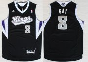 Wholesale Cheap Sacramento Kings #8 Rudy Gay Revolution 30 Swingman Black Jersey