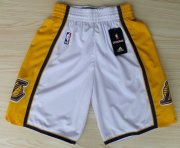 Wholesale Cheap Los Angeles Lakers White Short
