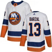 Wholesale Cheap Adidas Islanders #13 Mathew Barzal White Road Authentic Stitched NHL Jersey