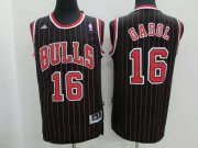 Wholesale Cheap Chicago Bulls #16 Pau Gasol Revolution 30 Swingman Black Pinstripe Jersey