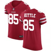 Wholesale Cheap Nike 49ers #85 George Kittle Red Team Color Men's Stitched NFL Vapor Untouchable Elite Jersey