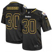 Wholesale Cheap Nike Steelers #30 James Conner Lights Out Black Men's Stitched NFL Elite Jersey