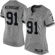 Wholesale Cheap Nike Redskins #91 Ryan Kerrigan Gray Women's Stitched NFL Limited Gridiron Gray Jersey