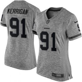 Wholesale Cheap Nike Redskins #91 Ryan Kerrigan Gray Women\'s Stitched NFL Limited Gridiron Gray Jersey
