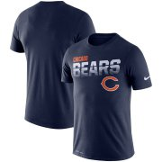 Wholesale Cheap Chicago Bears Nike Sideline Line of Scrimmage Legend Performance T-Shirt Navy