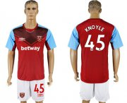 Wholesale Cheap West Ham United #45 Knoyle Home Soccer Club Jersey