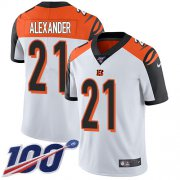 Wholesale Cheap Nike Bengals #21 Mackensie Alexander White Men's Stitched NFL 100th Season Vapor Untouchable Limited Jersey