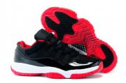 Wholesale Cheap Air Jordan 11 Retro Low Size 14 15 16 Bred black/red-white