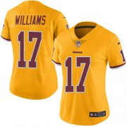 Wholesale Cheap Nike Redskins #17 Doug Williams Gold Women's Stitched NFL Limited Rush Jersey
