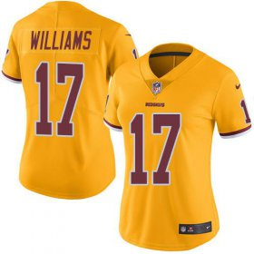 Wholesale Cheap Nike Redskins #17 Doug Williams Gold Women\'s Stitched NFL Limited Rush Jersey