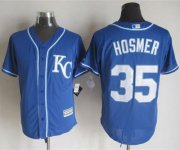 Wholesale Cheap Royals #35 Eric Hosmer Blue Alternate 2 New Cool Base Stitched MLB Jersey