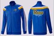 Wholesale Cheap NFL Los Angeles Rams Victory Jacket Blue