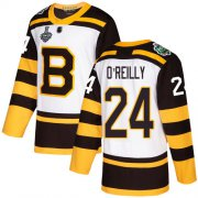 Wholesale Cheap Adidas Bruins #24 Terry O'Reilly White Authentic 2019 Winter Classic Stanley Cup Final Bound Youth Stitched NHL Jersey