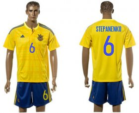 Wholesale Cheap Ukraine #6 Stepanenko Home Soccer Country Jersey