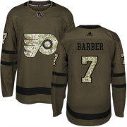 Wholesale Cheap Adidas Flyers #7 Bill Barber Green Salute to Service Stitched NHL Jersey