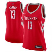 Wholesale Cheap Nike Houston Rockets #13 James Harden Red Women's NBA Swingman Icon Edition Jersey