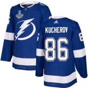 Cheap Adidas Lightning #86 Nikita Kucherov Blue Home Authentic Youth 2020 Stanley Cup Champions Stitched NHL Jersey