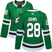 Cheap Adidas Stars #28 Stephen Johns Green Home Authentic Women's Stitched NHL Jersey