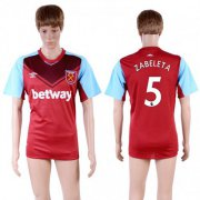 Wholesale Cheap West Ham United #5 Zabeleta Home Soccer Club Jersey