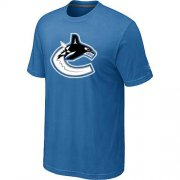 Wholesale Cheap Vancouver Canucks Big & Tall Logo Indigo Blue NHL T-Shirt