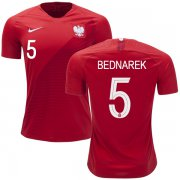 Wholesale Cheap Poland #5 Bednarek Away Soccer Country Jersey