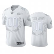 Wholesale Cheap Los Angeles Rams Custom Men's Nike Platinum NFL MVP Limited Edition Jersey