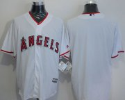 Wholesale Cheap Angels of Anaheim Blank White New Cool Base Stitched MLB Jersey