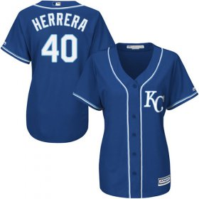 Wholesale Cheap Royals #40 Kelvin Herrera Royal Blue Alternate Women\'s Stitched MLB Jersey