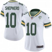 Wholesale Cheap Nike Packers #10 Darrius Shepherd White Women's 100th Season Stitched NFL Vapor Untouchable Limited Jersey