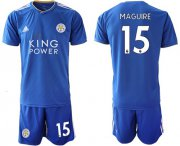 Wholesale Cheap Leicester City #15 Maguire Home Soccer Club Jersey