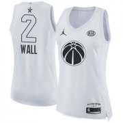 Wholesale Cheap Nike Washington Wizards #2 John Wall White Women's NBA Jordan Swingman 2018 All-Star Game Jersey