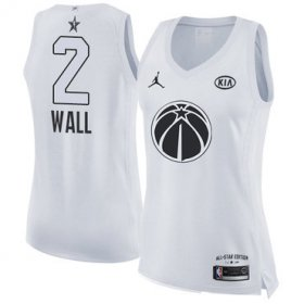 Wholesale Cheap Nike Washington Wizards #2 John Wall White Women\'s NBA Jordan Swingman 2018 All-Star Game Jersey