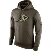 Wholesale Cheap Men's Anaheim Ducks Nike Salute To Service NHL Hoodie