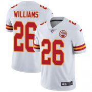 Wholesale Cheap Nike Chiefs #26 Damien Williams White Youth Stitched NFL Vapor Untouchable Limited Jersey