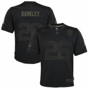 Cheap New York Giants #26 Saquon Barkley Nike Youth 2020 Salute to Service Game Jersey Black