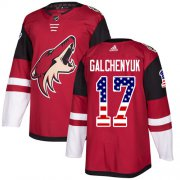 Wholesale Cheap Adidas Coyotes #17 Alex Galchenyuk Maroon Home Authentic USA Flag Stitched Youth NHL Jersey