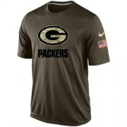 Wholesale Cheap Men's Green Bay Packers Salute To Service Nike Dri-FIT T-Shirt