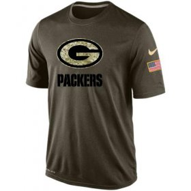 Wholesale Men\'s Green Bay Packers Salute To Service Nike Dri-FIT T-Shirt