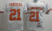 Wholesale Cheap Oklahoma State Cowboys #21 Barry Sanders White Throwback Jersey