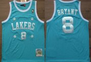 Wholesale Cheap Los Angeles Lakers #8 Kobe Bryant Light Blue With Star Swingman Throwback Jersey