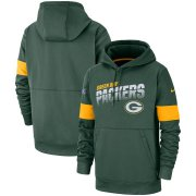 Wholesale Cheap Green Bay Packers Nike Sideline Team Logo Performance Pullover Hoodie Green