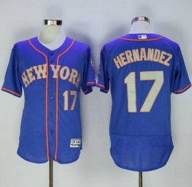 Wholesale Cheap Mets #17 Keith Hernandez Blue(Grey NO.) Flexbase Authentic Collection Stitched MLB Jersey