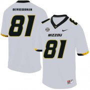 Wholesale Cheap Missouri Tigers 81 Albert Okwuegbunam White Nike College Football Jersey