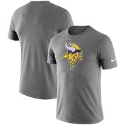 Wholesale Cheap Minnesota Vikings Nike Essential Logo Dri-FIT Cotton T-Shirt Heather Charcoal