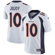Wholesale Cheap Nike Broncos #10 Jerry Jeudy White Men's Stitched NFL Vapor Untouchable Limited Jersey