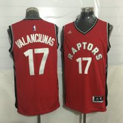 Wholesale Cheap Men's Toronto Raptors #17 Jonas Valanciunas Red New NBA Rev 30 Swingman Jersey