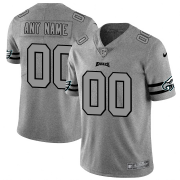 Wholesale Cheap Philadelphia Eagles Custom Men's Nike Gray Gridiron II Vapor Untouchable Limited NFL Jersey