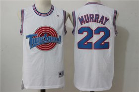 Wholesale Cheap Tune Squad 22 Murray White Stitched Movie Jersey